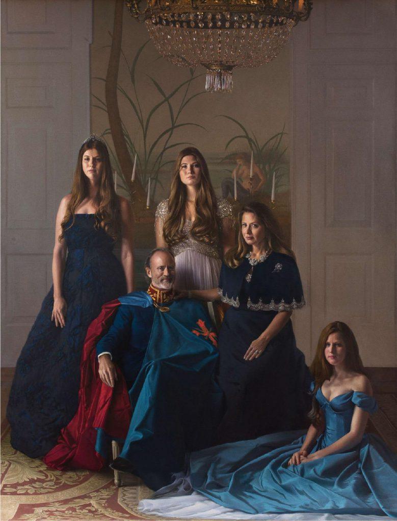 משפחת הנסיך פייר ד'ארנברג | דוד ניפו | שמן על בד | 2018-2020
