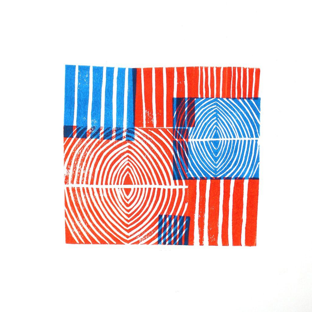 ללא כותרת, נועם פולומבו, הדפס לינול, 2020 (1)